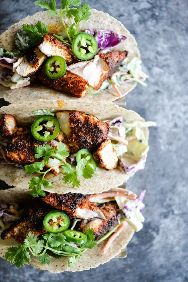 Blackened Fish Tacos Fed and Fit