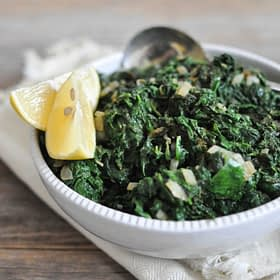 Paleo Creamed Spinach