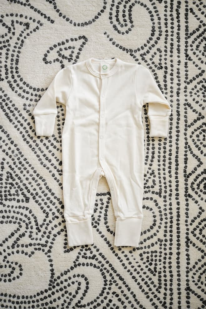 how I'm choosing safer baby products clothing on the floor