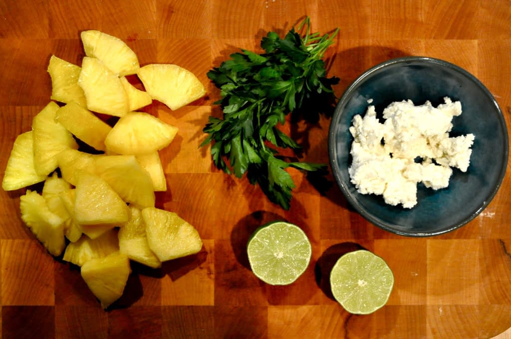 Pineapple Cilantro Goat Cheese Appetizer ingredients