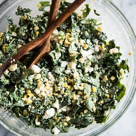 Mexican Street Corn and Kale Slaw