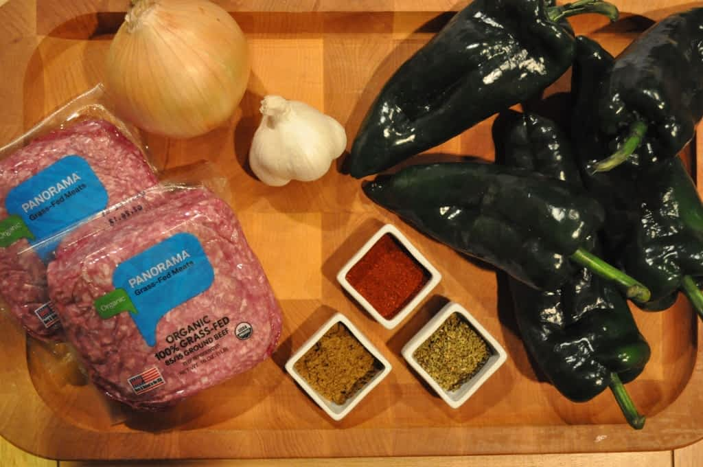 ingredients for paleo Chile relleno