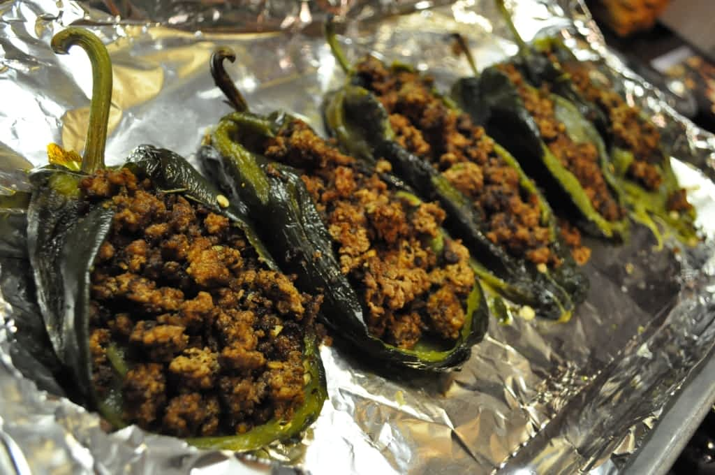 stuffed chiles with ground beef