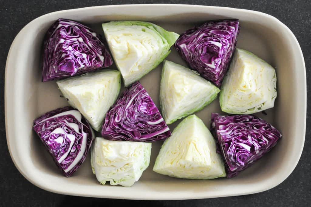 Gather's Roasted Green and Purple Cabbage | Fed+Fit-16