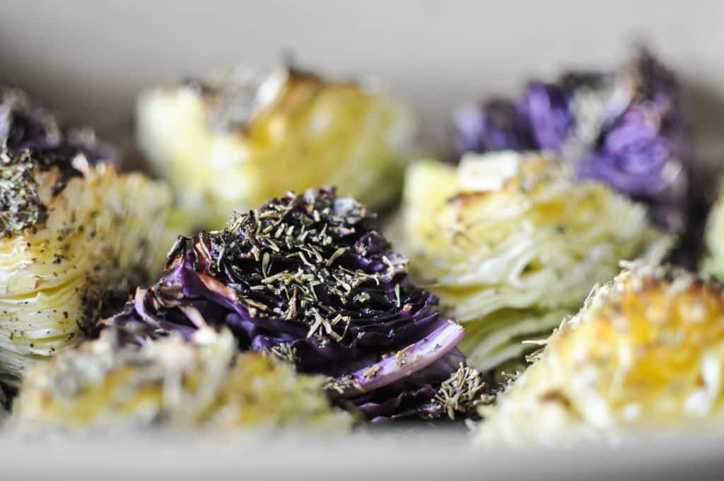 Gather's Roasted Green and Purple Cabbage | Fed+Fit-3