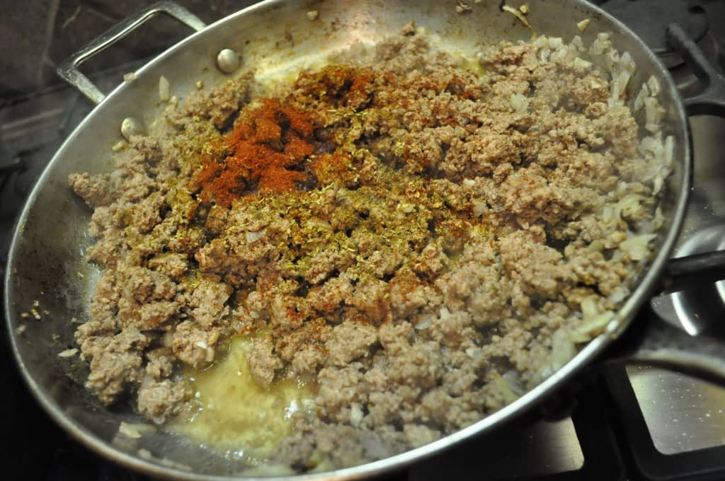 ground beef for paleo Chile relleno