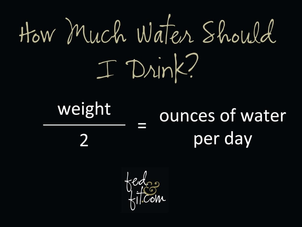 how much water to drink diagram