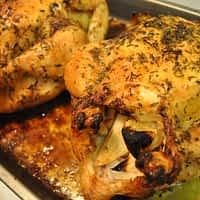 roasted whole herb chicken