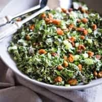 bowl of Curried Kale Salad Fed
