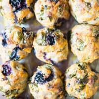 Blueberry sweet potato breakfast meatballs