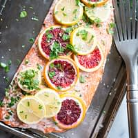 easy citrus roasted salmon