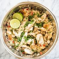 instant pot chicken fajitas and rice