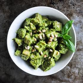 Paleo Chicken Pesto Salad