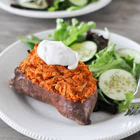 Twice Baked Loaded Sweet Potatoes