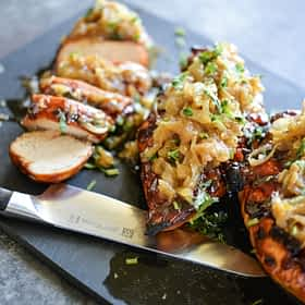 Smothered BBQ Chicken Breasts