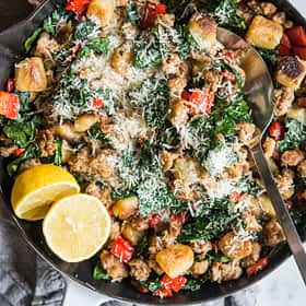Cauliflower Gnocchi and Sausage Skillet