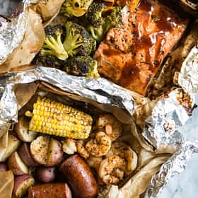 2 Easy Seafood Grilled Foil Packet Dinners