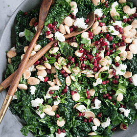 Winter Chopped Kale Salad with Lemon Cardamom Dressing