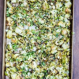 Asian Citrus Brussels Sprouts Slaw