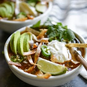 Easy Slow Cooker Tortilla Soup