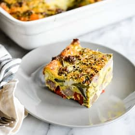 Roasted Veggie Breakfast Casserole