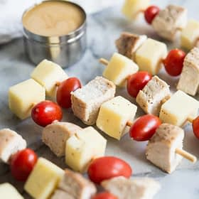 Chicken Skewers with Honey Mustard Dipping Sauce