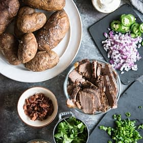 Easy Baked Potato Bar