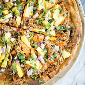 Al Pastor Pizza with Plantain Crust