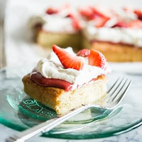 Strawberry Shortcake Sheet Cake