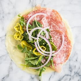 Easy Keto Lunch Wraps with Salami and Italian Dressing
