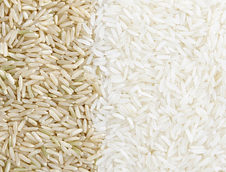 photo of brown rice vs. white rice