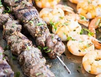 Surf and Turf Kabobs Fed and Fit-2