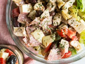 Mason Jar Antipasto Salad