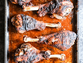 bbq baked turkey legs