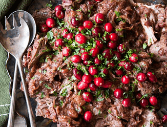 slow cooker cranberry pork shoulder