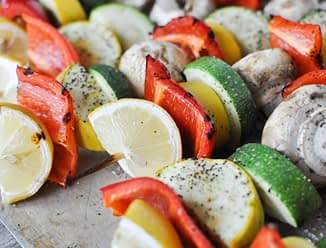 Lemon Pepper Vegetable Skewers