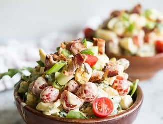 loaded BLT Egg Salad