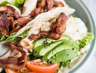 Turkey avocado wraps