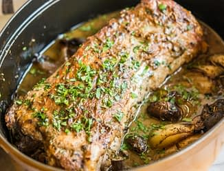 balsamic pot roasted pork loin