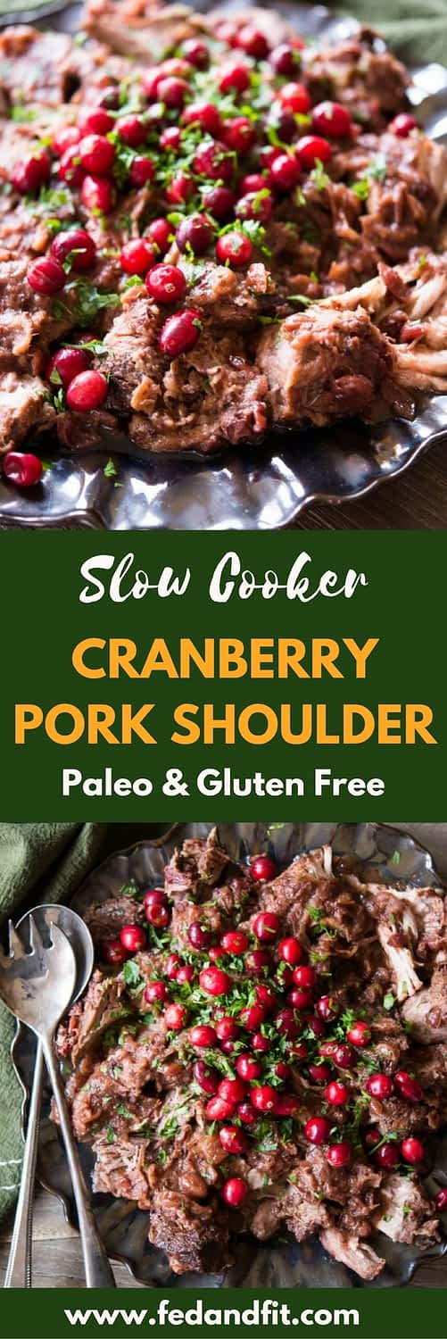 Not sure what to do with all that leftover cranberry sauce and feeling tired of cooking? Cranberry pork shoulder is the perfect meal that you can throw into the slow cooker that results in a flavorful shredded pork roast.