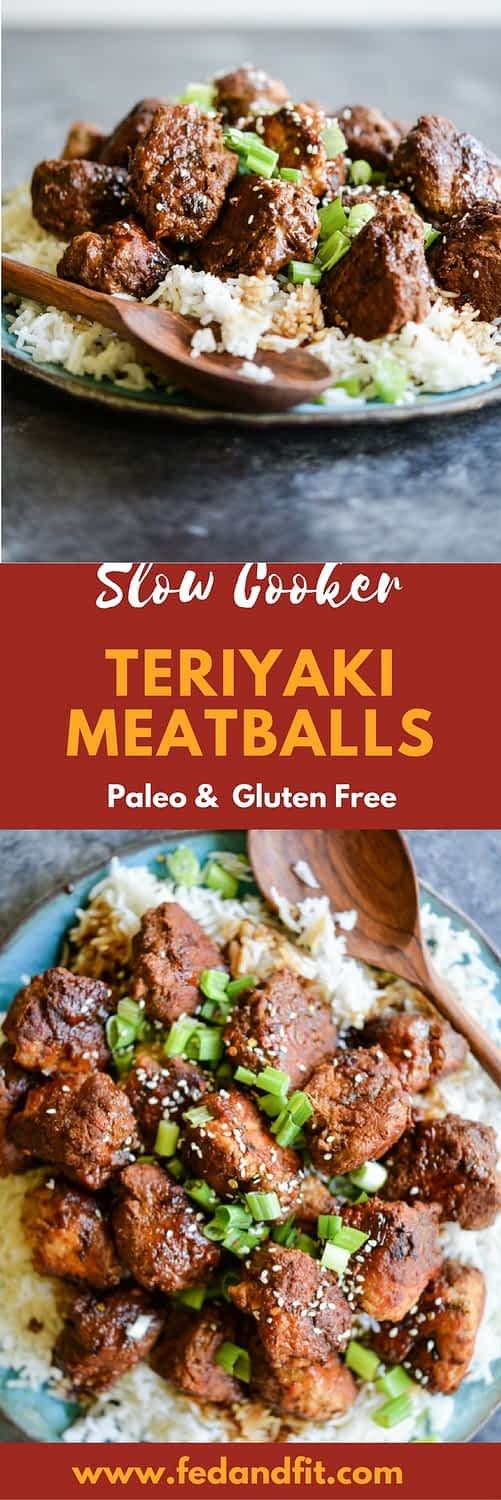 These Turkey Teriyaki Meatballs are gluten free and Paleo, easy to make, and packed with flavor! | Fed & Fit