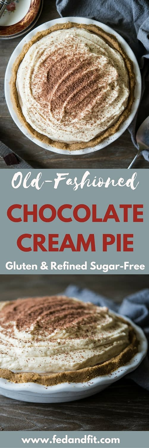 This easy, 7-ingredient chocolate pie is gluten and refined sugar-free and still incredibly rich and delicious. It is the perfect side dish for your Thanksgiving or holiday table!