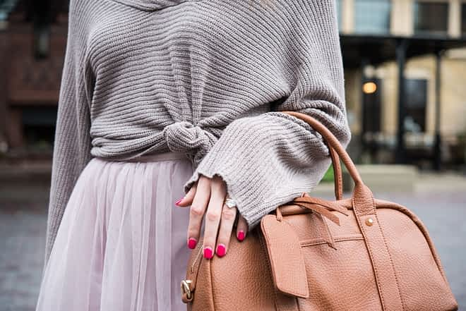 Tulle Skirt with Sweater Fed and Fit-6