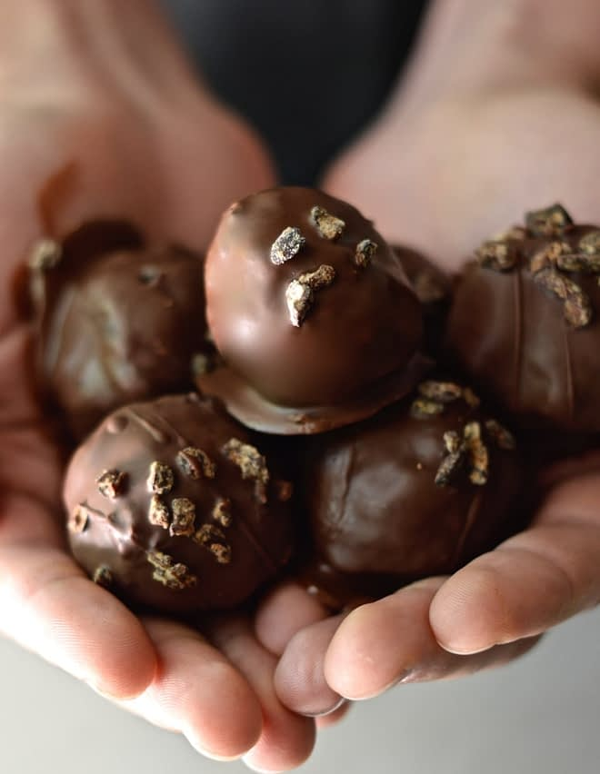 Paleo Triple Chocolate Cake Balls Fed and Fit-4