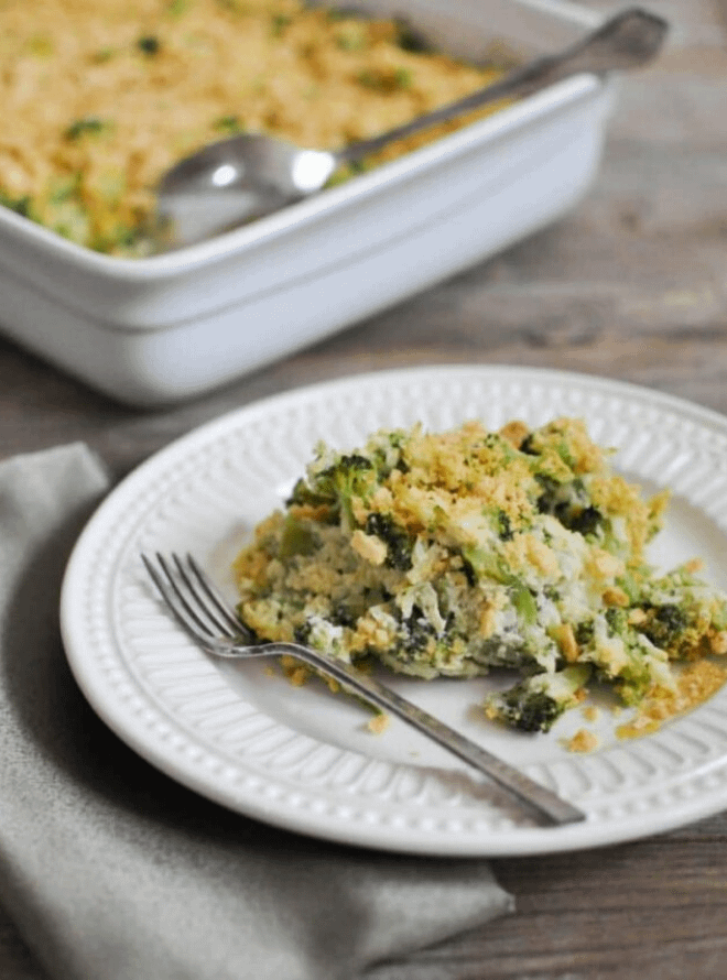 paleo cheesy broccoli casserole