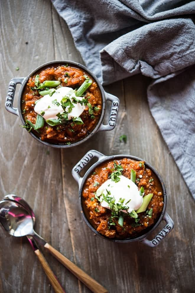 Pumpkin Turkey Paleo Chili