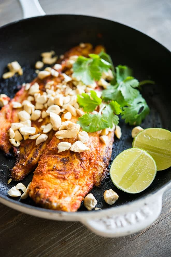 Red Curry Crusted White Fish