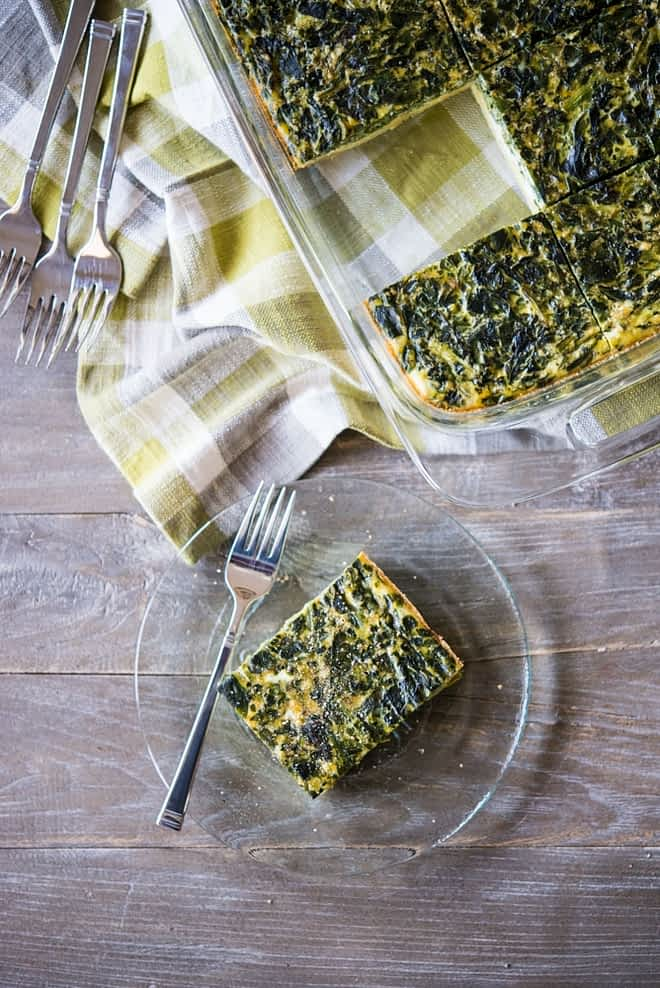 Paleo Breakfast Casserole with spinach and potatoes