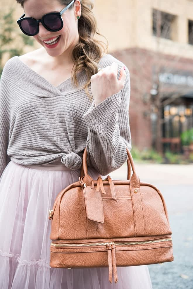 Tulle Skirt with Sweater Fed and Fit-2