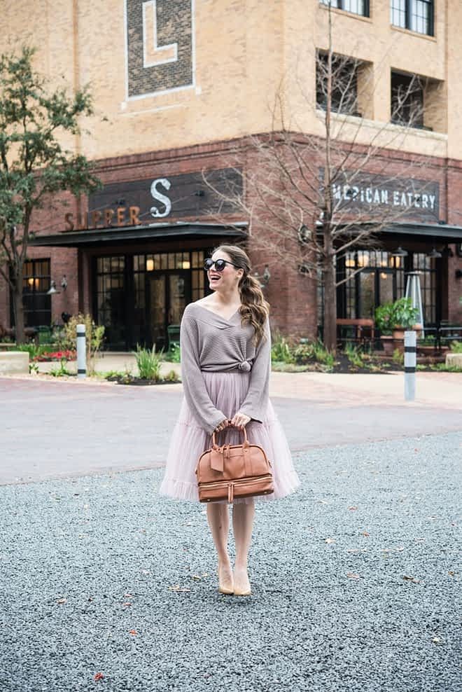 Tulle Skirt with Sweater Fed and Fit